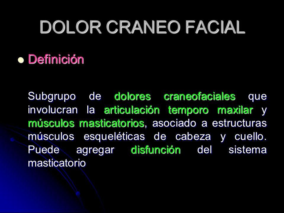 DOLOR CRANEO FACIAL Definición