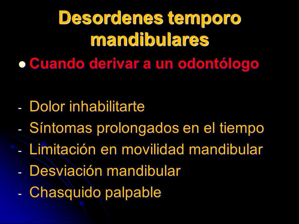 Desordenes temporo mandibulares