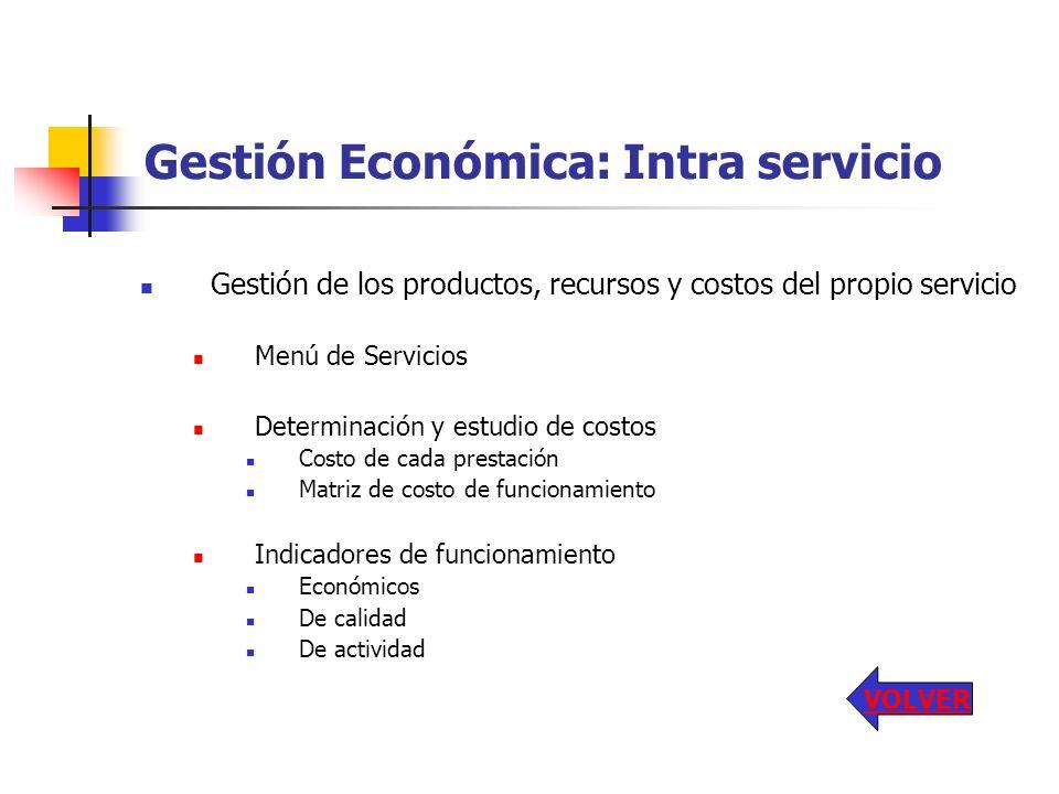 Gestión Económica: Intra servicio