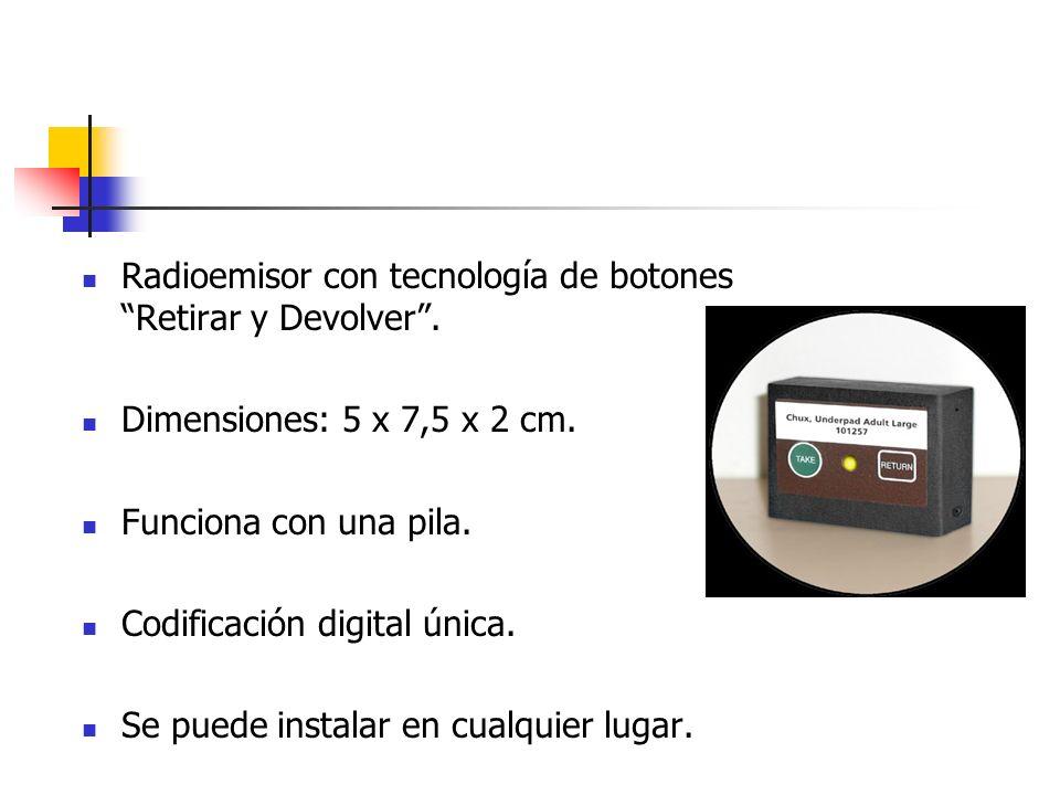 Radioemisor con tecnología de botones Retirar y Devolver .