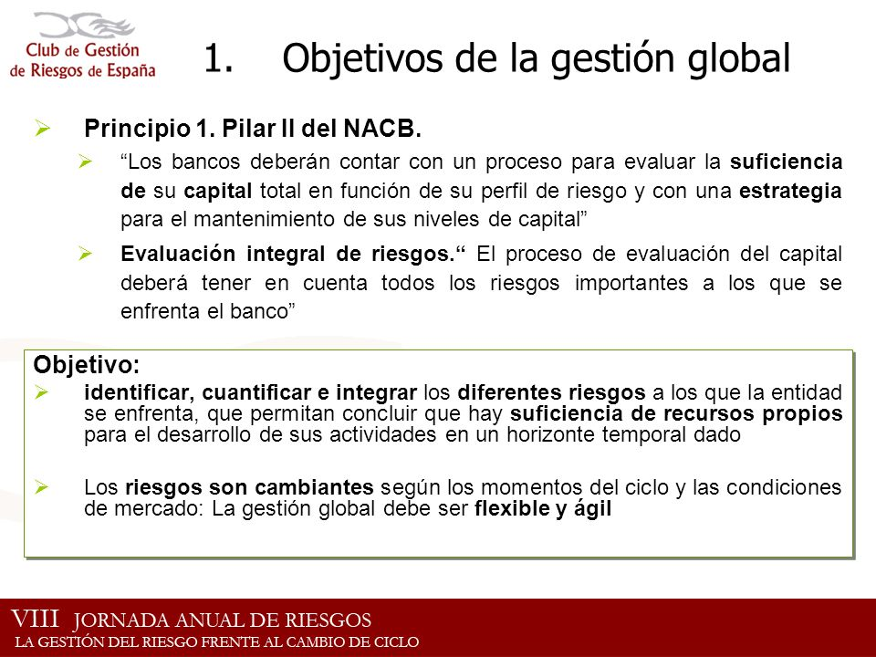 Objetivos de la gestión global