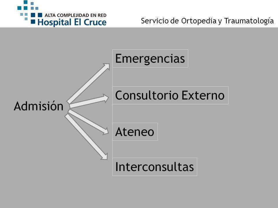 Emergencias Consultorio Externo Admisión Ateneo Interconsultas