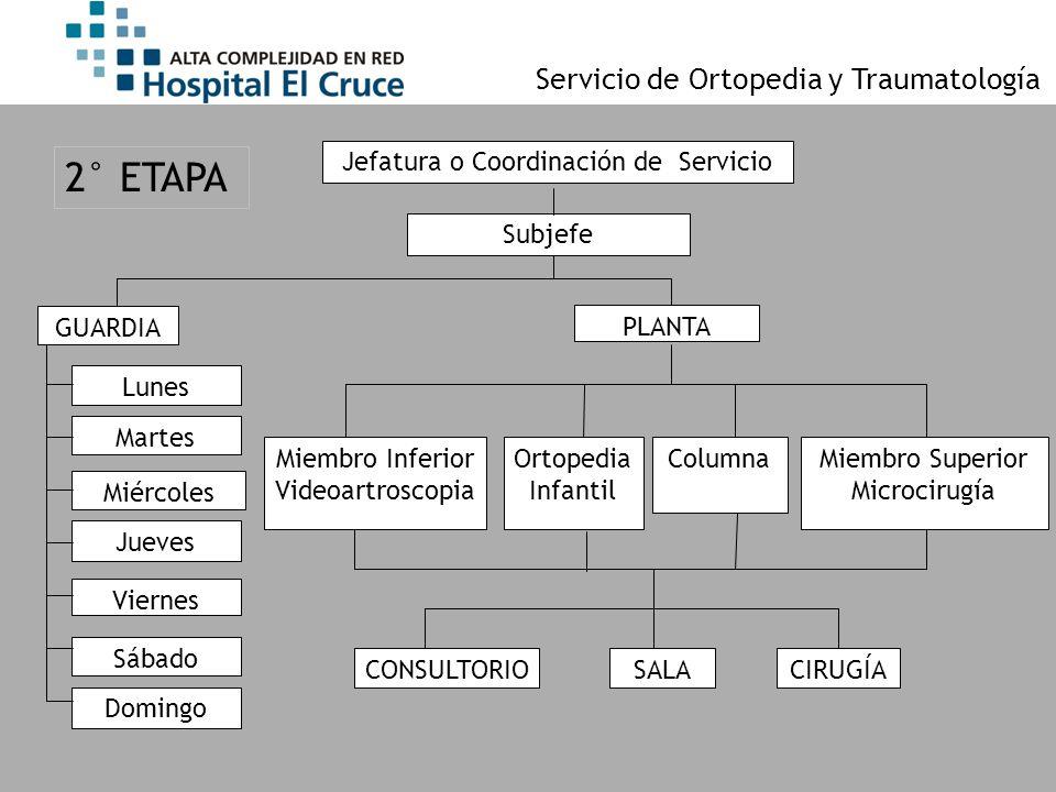 Jefatura o Coordinación de Servicio