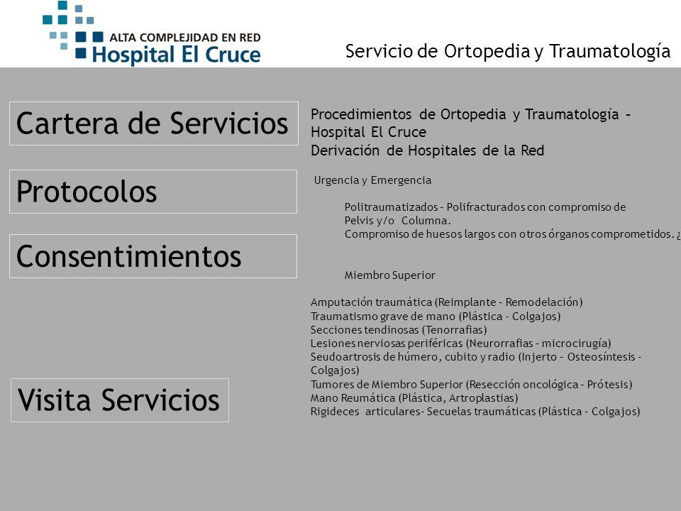 Cartera de Servicios Protocolos Consentimientos Visita Servicios