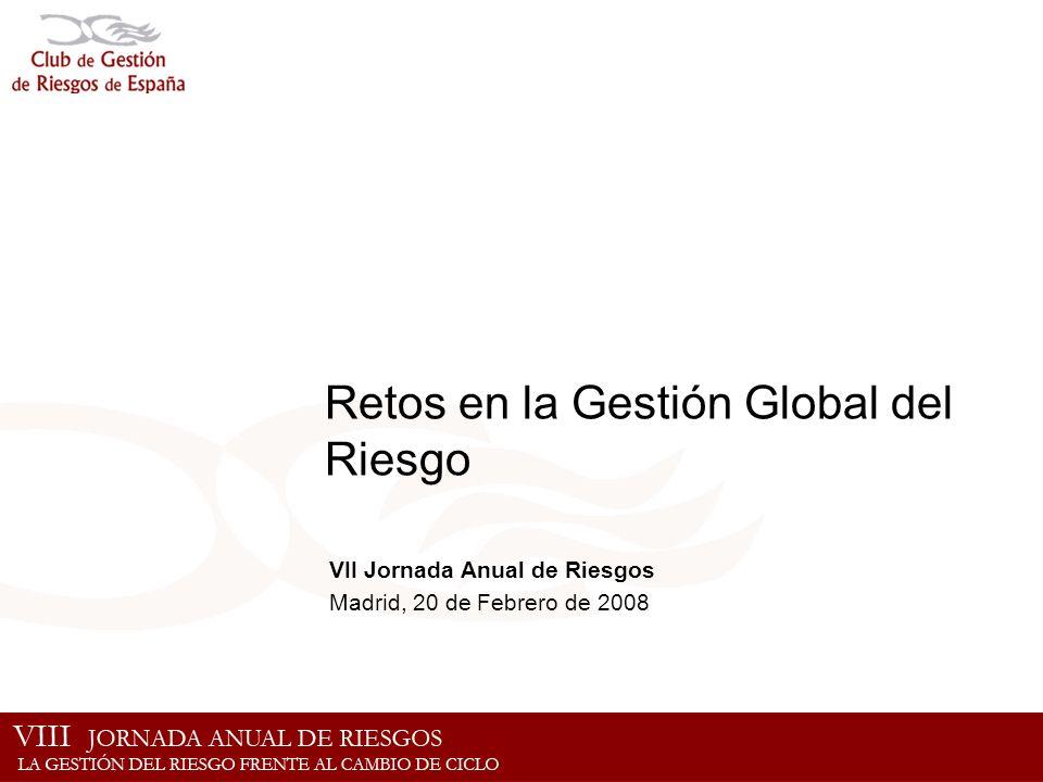 Retos en la Gestión Global del Riesgo