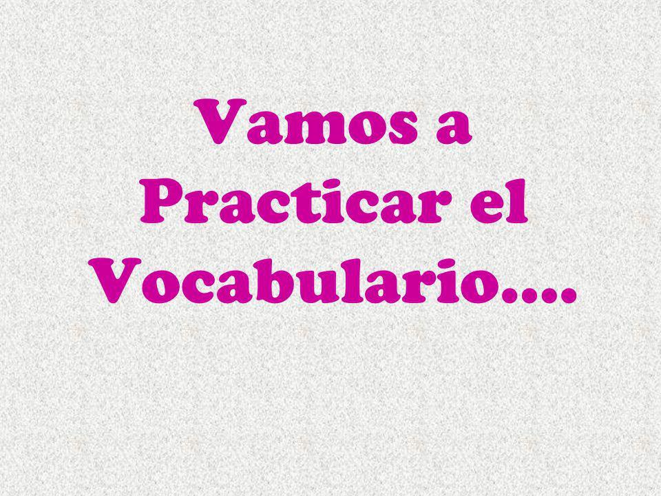 Vamos a Practicar el Vocabulario….