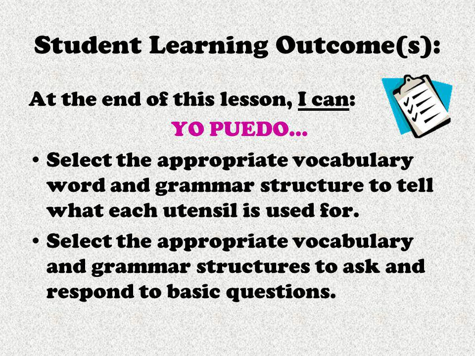 Student Learning Outcome(s):