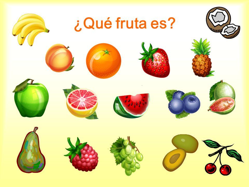 ¿Qué fruta es