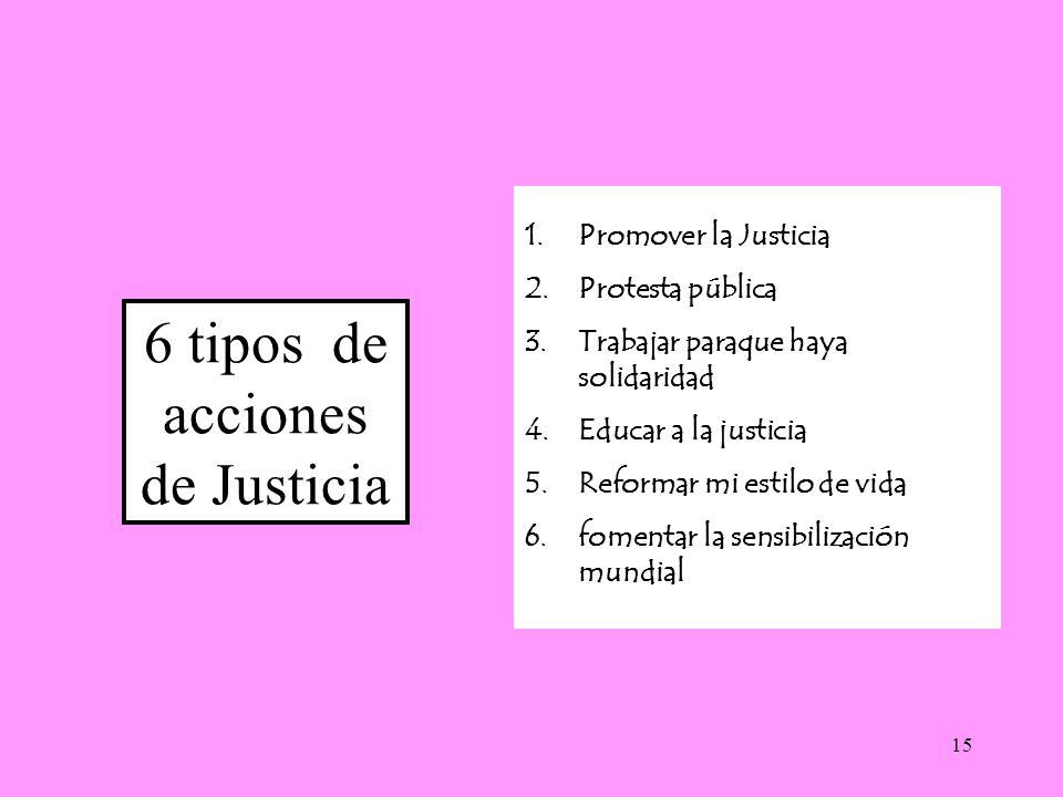 6 tipos de acciones de Justicia