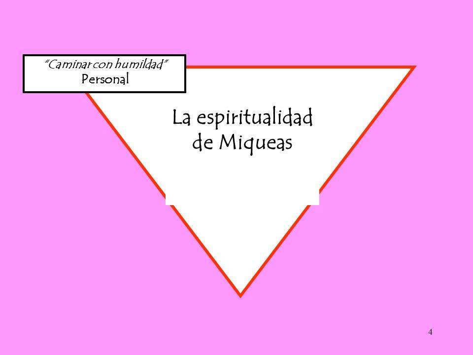 Caminar con humildad La espiritualidad de Miqueas