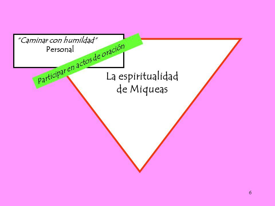 La espiritualidad de Miqueas