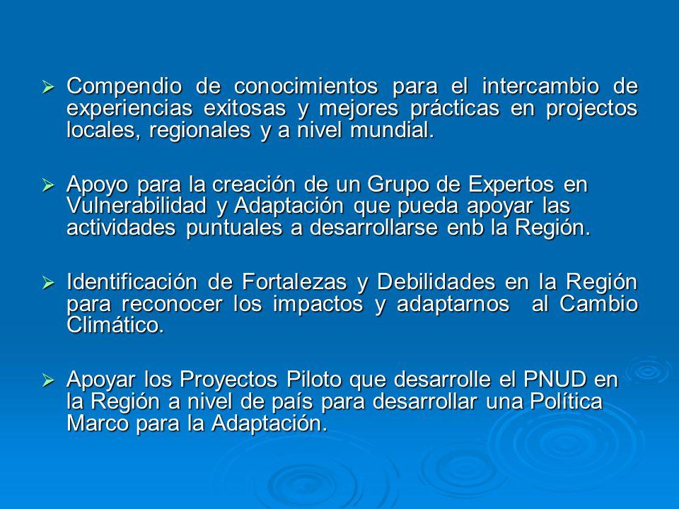 Compendio de conocimientos para el intercambio de experiencias exitosas y mejores prácticas en projectos locales, regionales y a nivel mundial.