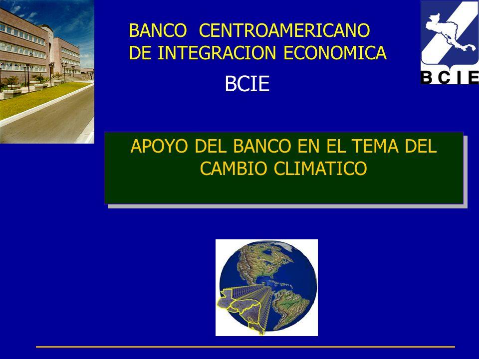 APOYO DEL BANCO EN EL TEMA DEL CAMBIO CLIMATICO