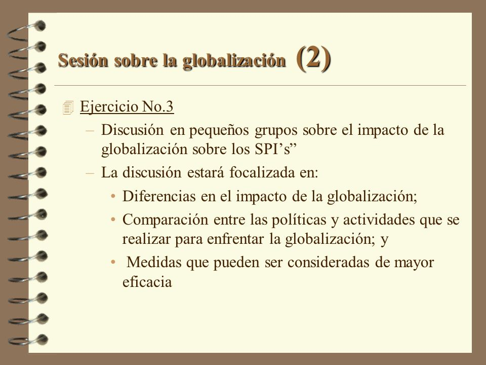 Sesión sobre la globalización (2)