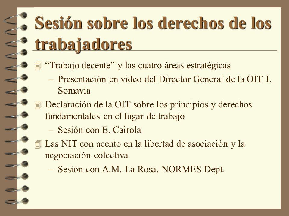 Sesión sobre los derechos de los trabajadores