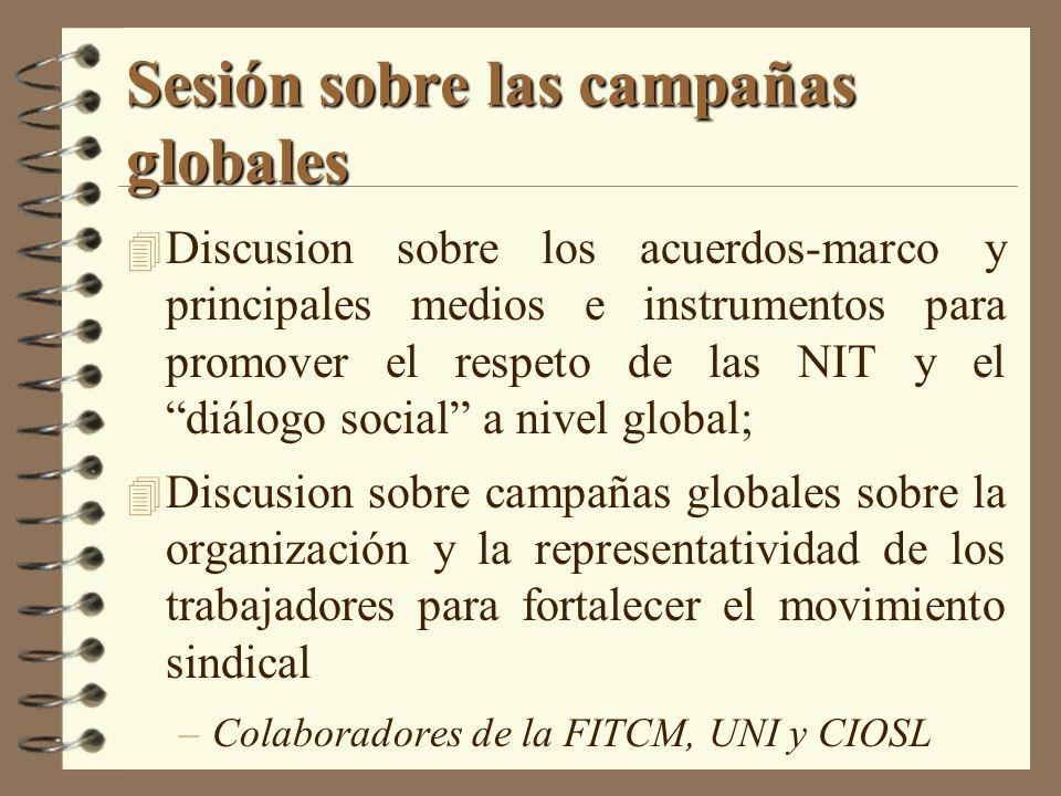 Sesión sobre las campañas globales