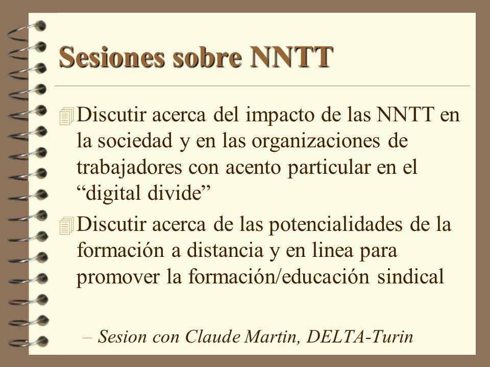 Sesiones sobre NNTT