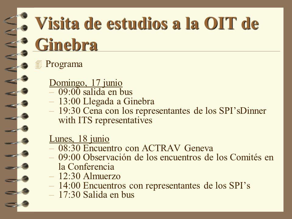 Visita de estudios a la OIT de Ginebra