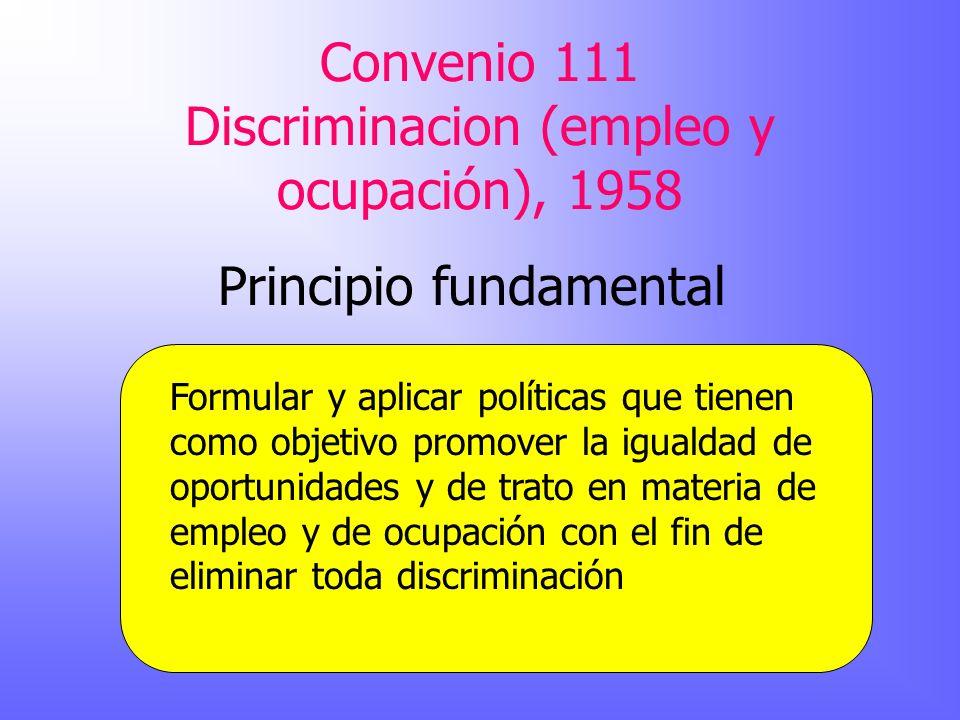 Convenio 111 Discriminacion (empleo y ocupación), 1958