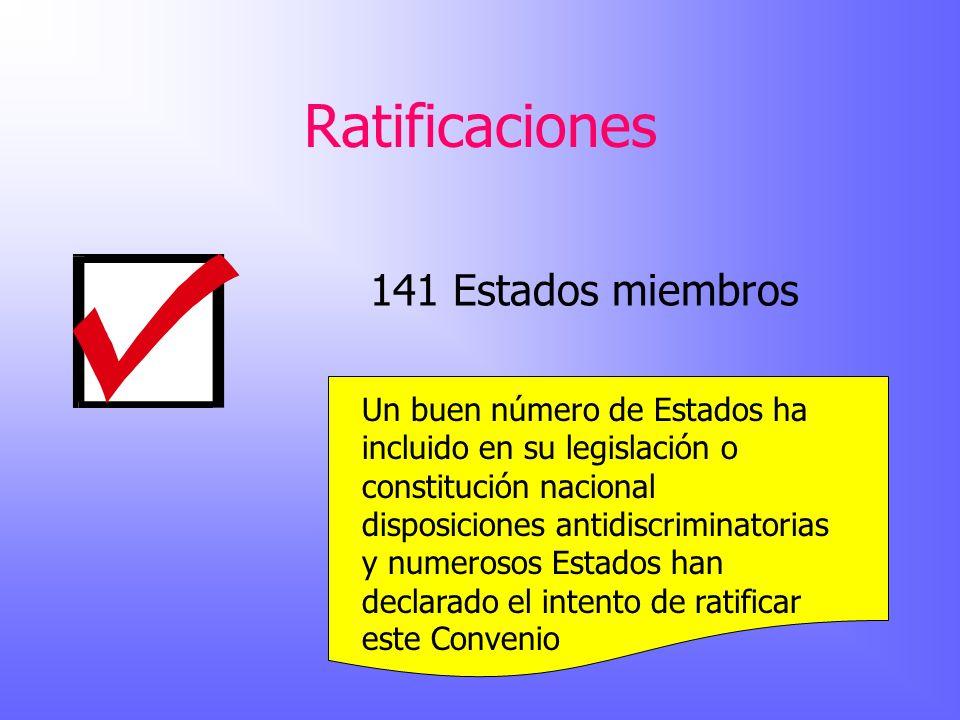 Ratificaciones 141 Estados miembros
