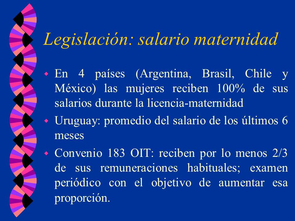 Legislación: salario maternidad