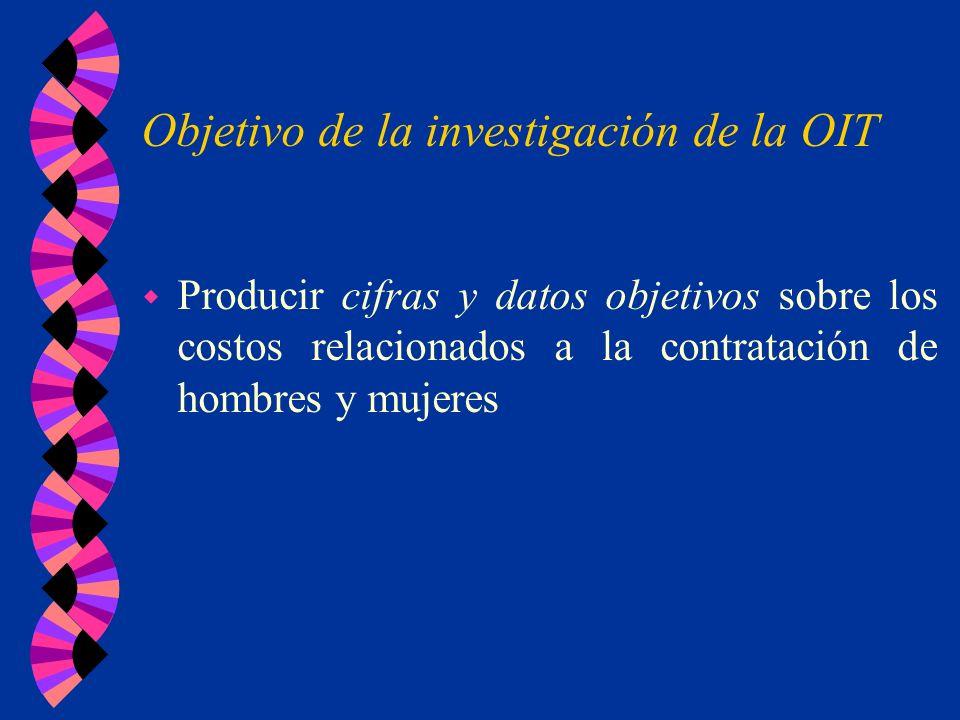 Objetivo de la investigación de la OIT