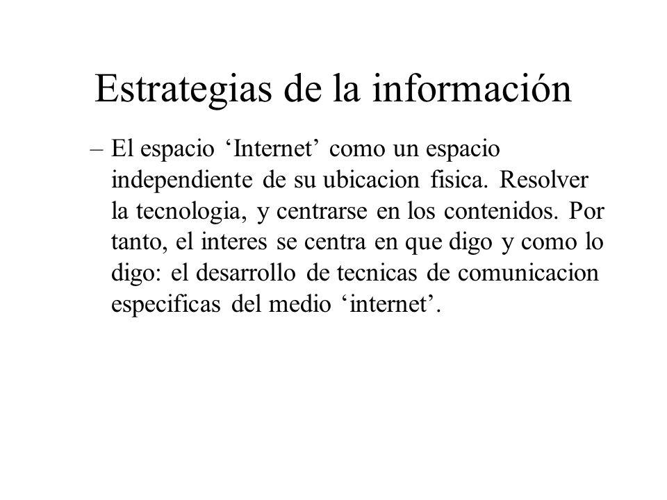 Estrategias de la información