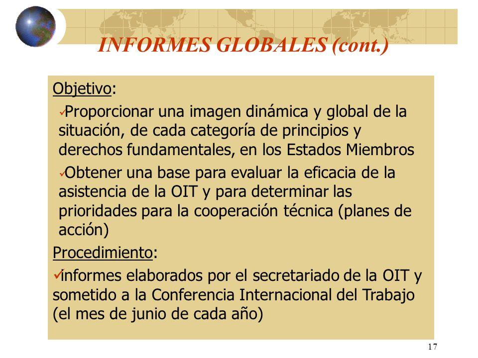 INFORMES GLOBALES (cont.)