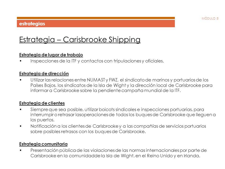 Estrategia – Carisbrooke Shipping