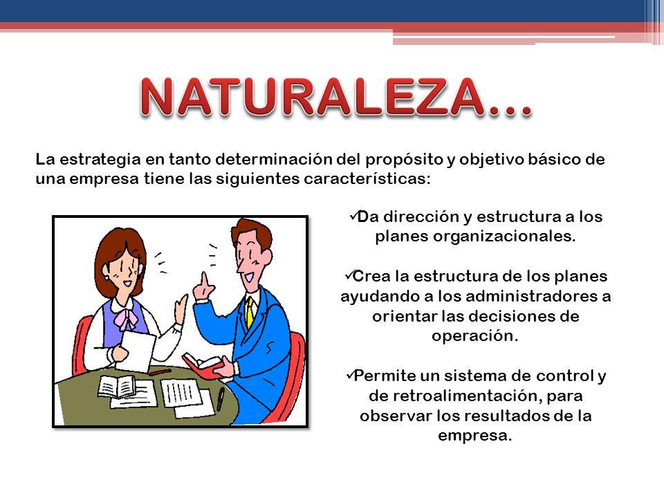 Da dirección y estructura a los planes organizacionales.