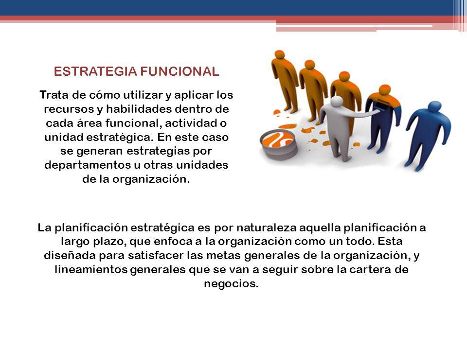 ESTRATEGIA FUNCIONAL