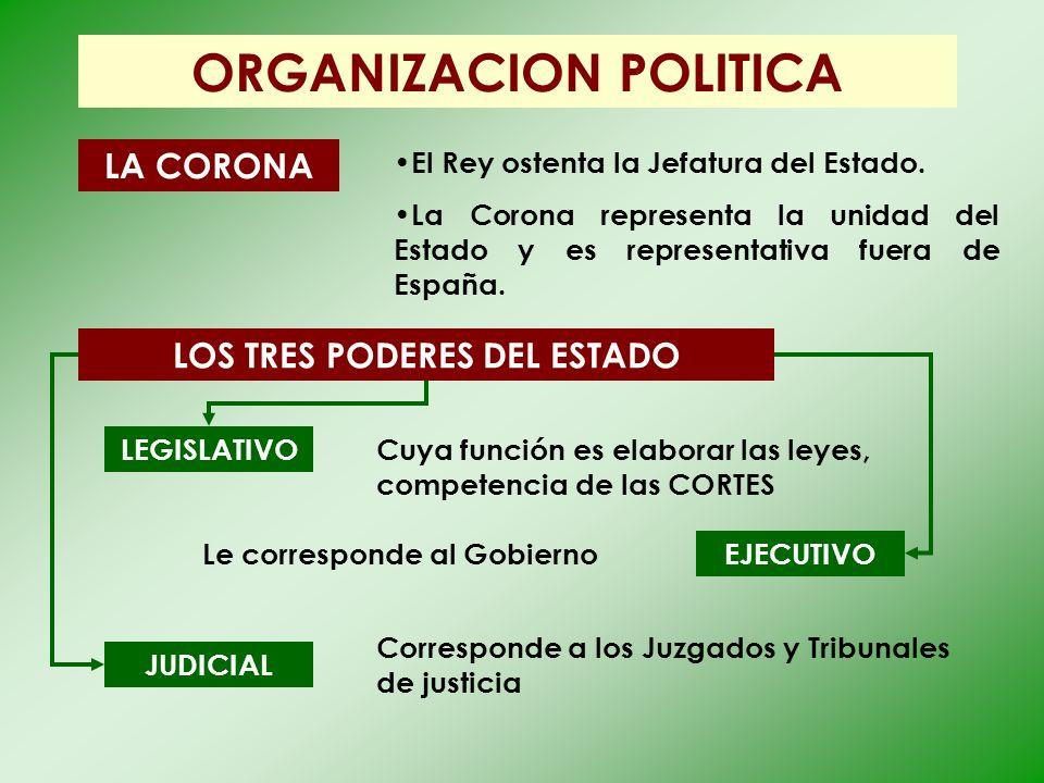ORGANIZACION POLITICA LOS TRES PODERES DEL ESTADO