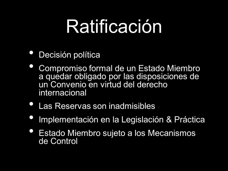 Ratificación Decisión política