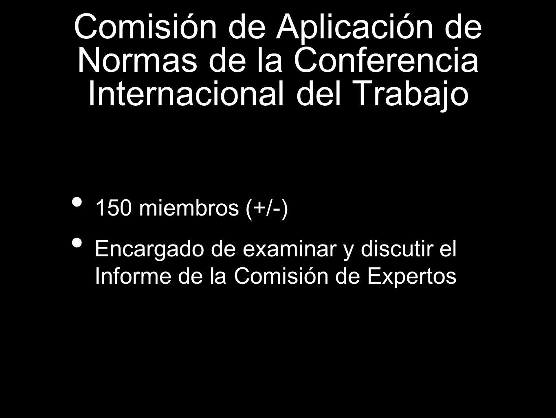 Comisión de Aplicación de Normas de la Conferencia Internacional del Trabajo