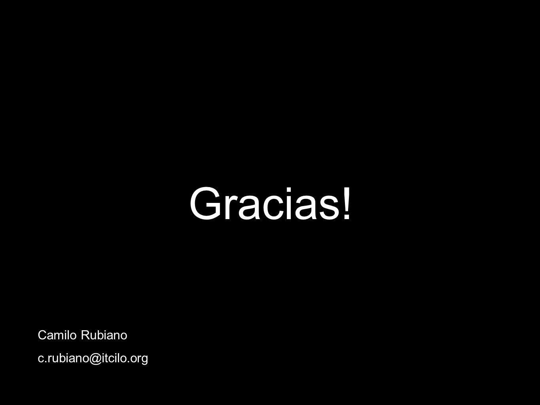 Gracias! Camilo Rubiano c.rubiano@itcilo.org