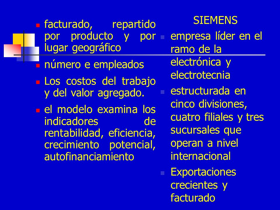 SIEMENS empresa líder en el ramo de la electrónica y electrotecnia.
