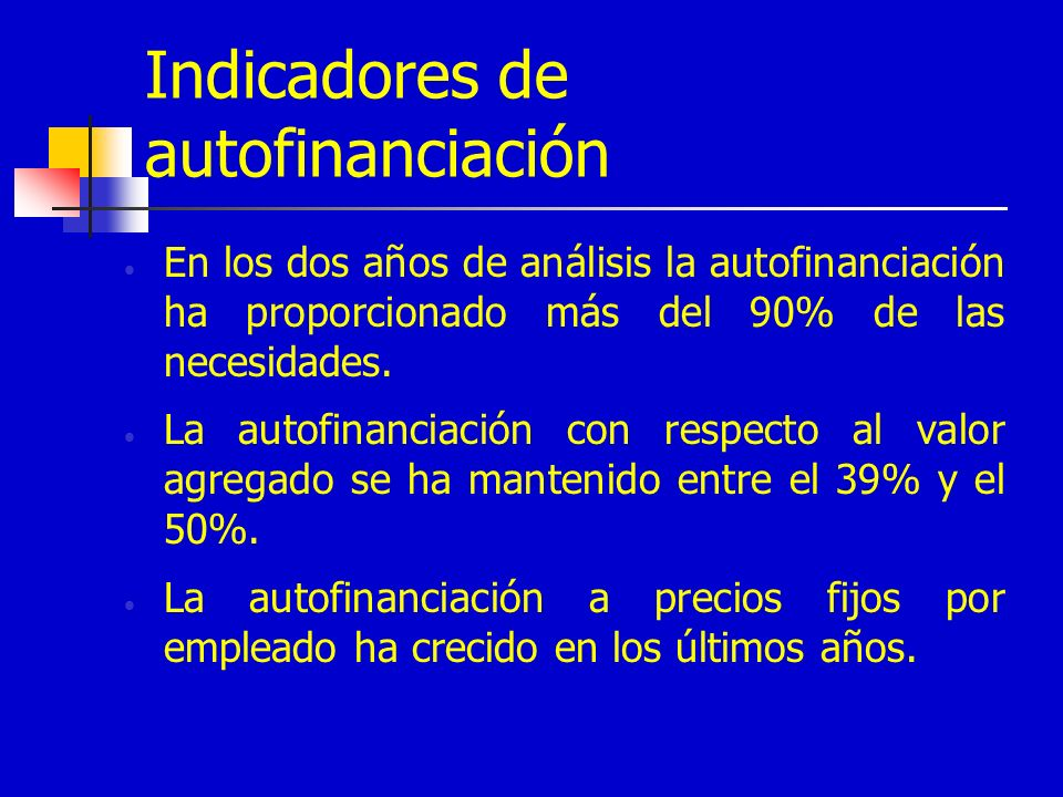 Indicadores de autofinanciación