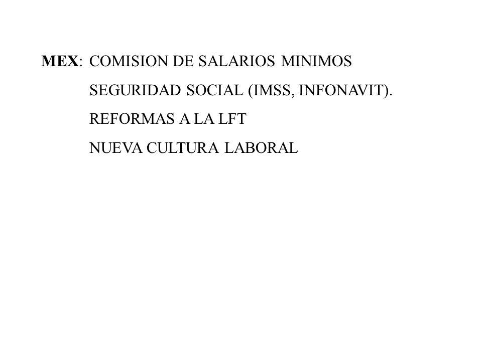 MEX: COMISION DE SALARIOS MINIMOS