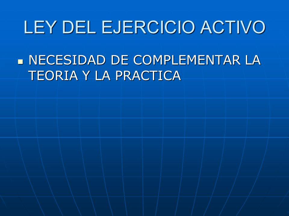 LEY DEL EJERCICIO ACTIVO