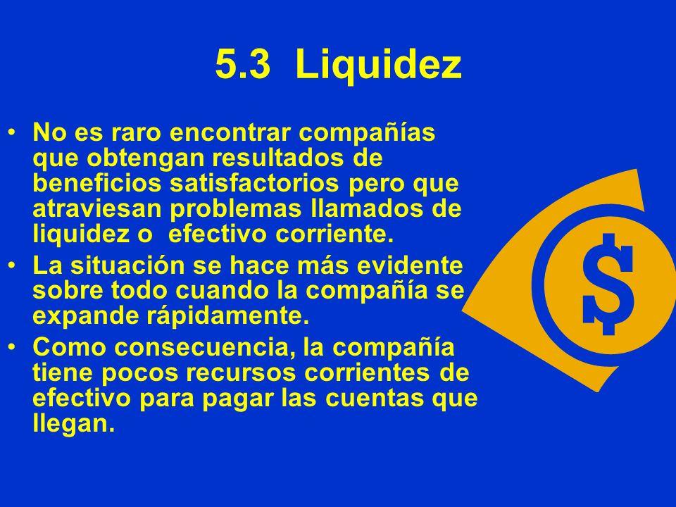 5.3 Liquidez