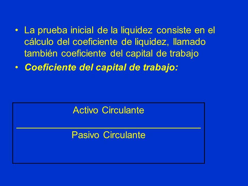 Activo Circulante ______________________________
