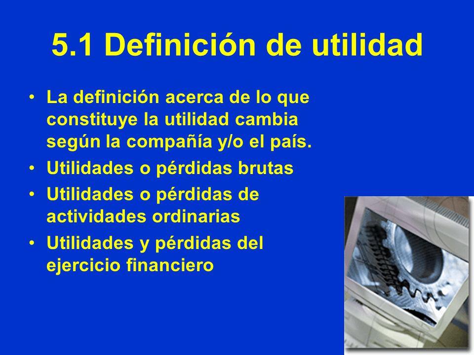 5.1 Definición de utilidad