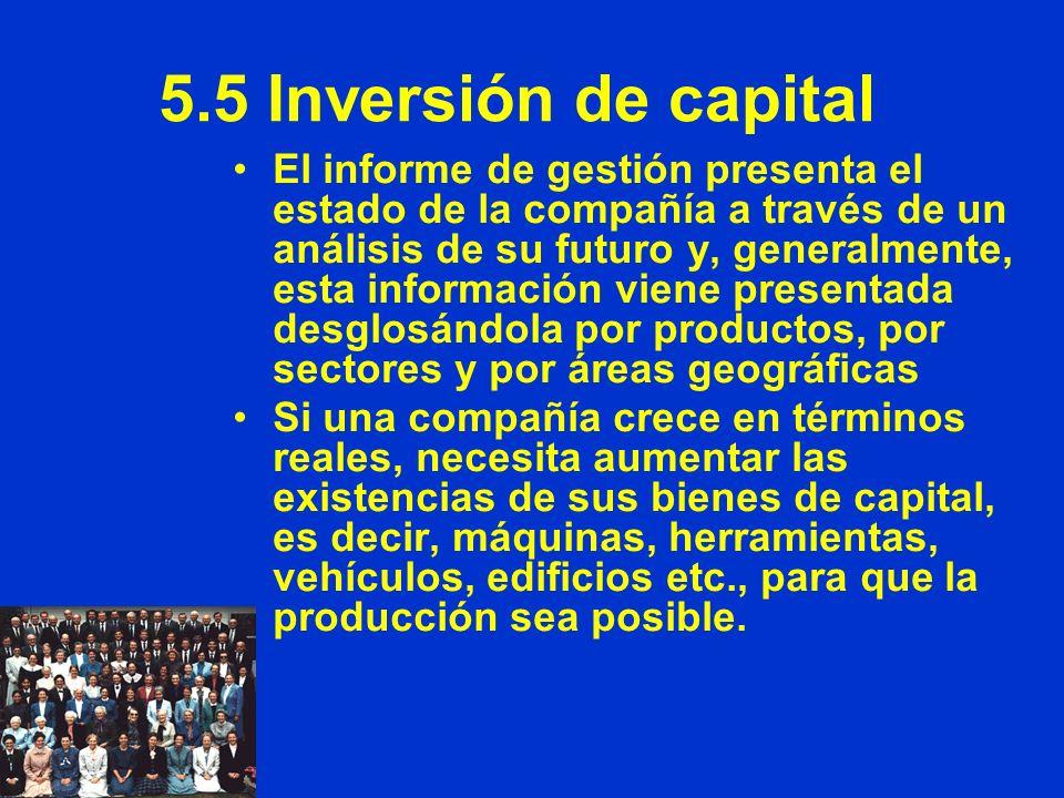 5.5 Inversión de capital