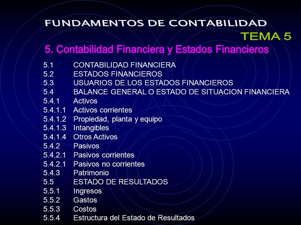 TEMA 5 FUNDAMENTOS DE CONTABILIDAD