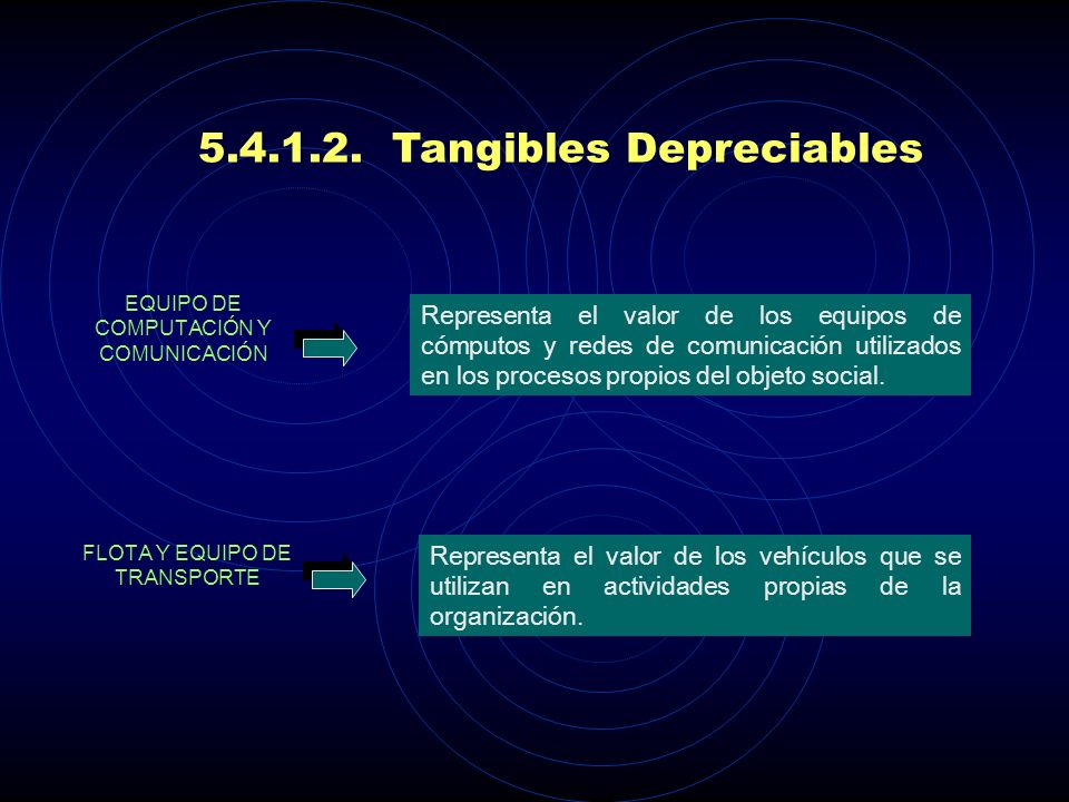 5.4.1.2. Tangibles Depreciables