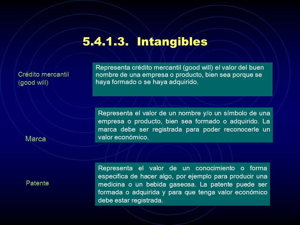 5.4.1.3. Intangibles