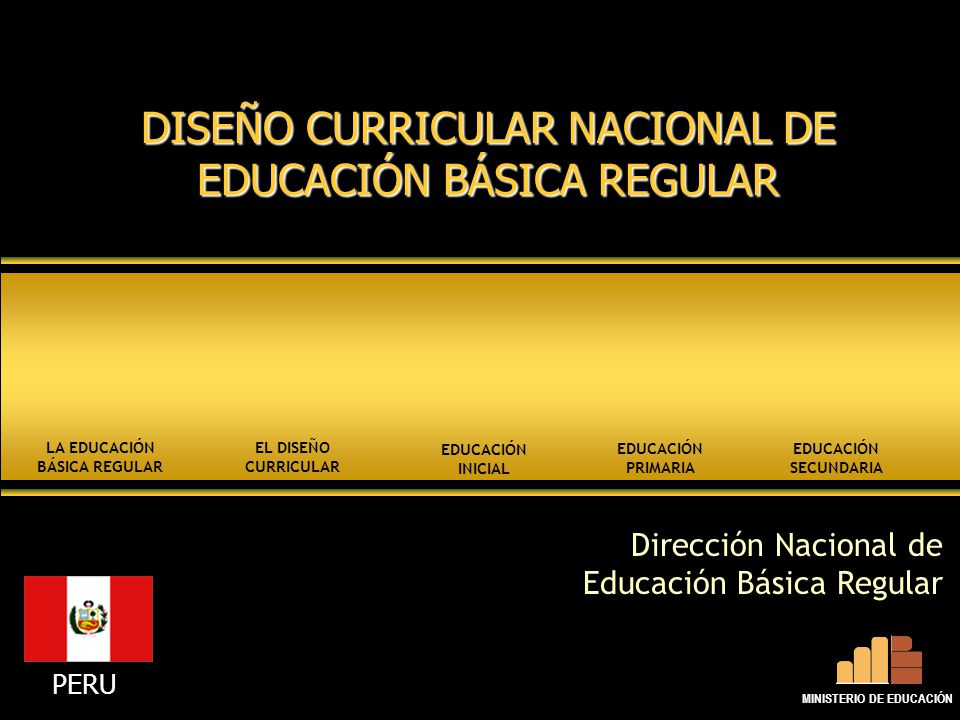 La educaci n b sica regular ministerio de educaci n ppt for Diseno curricular educacion primaria