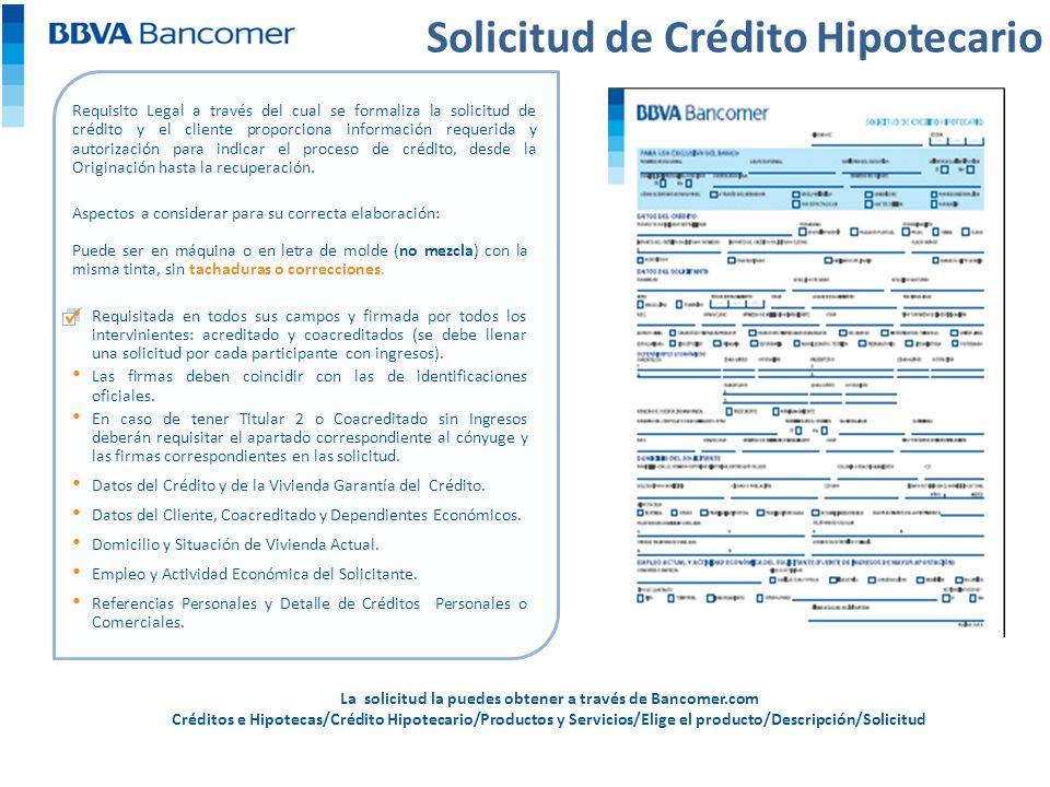 Solicitud de prestamos bancomer creditogwaran - Como solicitar un prestamo hipotecario ...