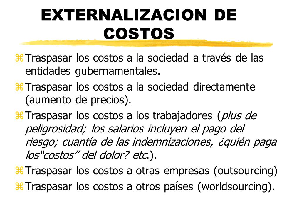 EXTERNALIZACION DE COSTOS