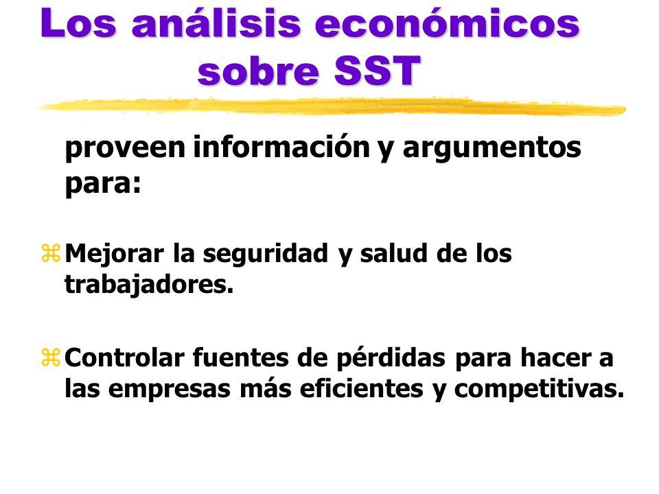 Los análisis económicos sobre SST